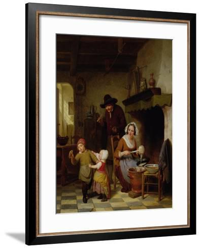Pancake Day, 1845-Basile De Loose-Framed Art Print