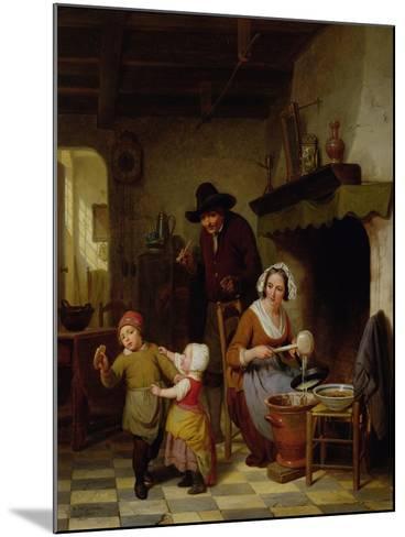 Pancake Day, 1845-Basile De Loose-Mounted Giclee Print
