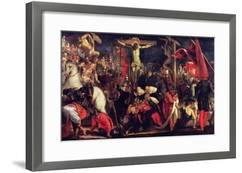 The Crucifixion-Jacopo Robusti Tintoretto-Framed Art Print