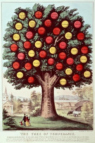 The Tree of Temperance, 1872-Currier & Ives-Stretched Canvas Print