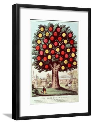 The Tree of Temperance, 1872-Currier & Ives-Framed Art Print
