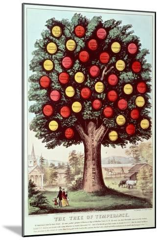 The Tree of Temperance, 1872-Currier & Ives-Mounted Giclee Print