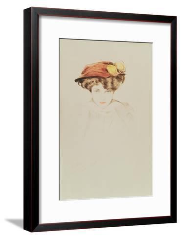Madame Wolffe-Paul Cesar Helleu-Framed Art Print
