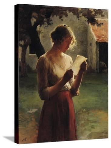 The Letter-Henri Lerolle-Stretched Canvas Print