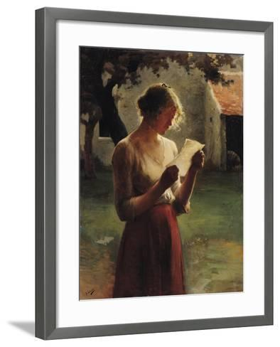 The Letter-Henri Lerolle-Framed Art Print