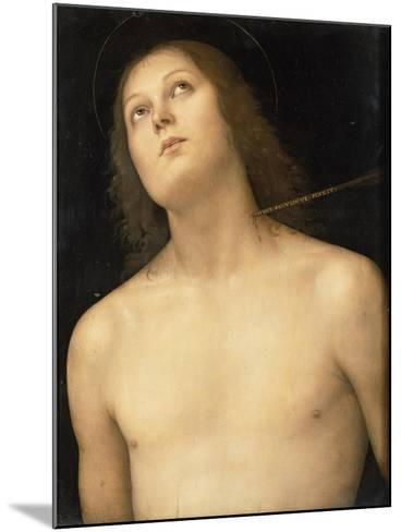 St. Sebastian, c.1495-Pietro Perugino-Mounted Giclee Print