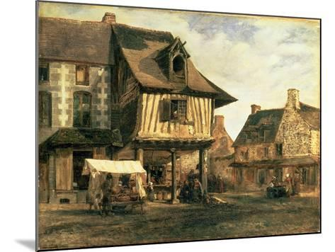 Market Place in Normandy, c.1832-Pierre Etienne Theodore Rousseau-Mounted Giclee Print
