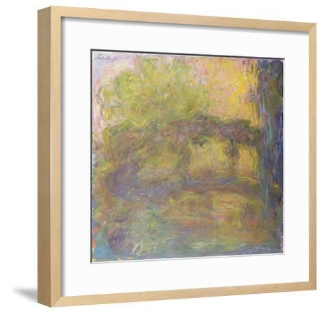 The Japanese Bridge, 1918-24-Claude Monet-Framed Art Print