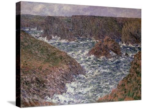 Port Domois at Belle Ile, 1886-Claude Monet-Stretched Canvas Print