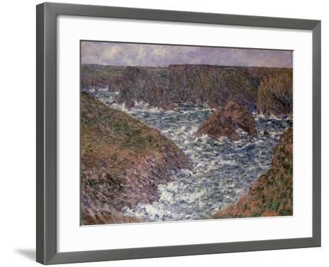 Port Domois at Belle Ile, 1886-Claude Monet-Framed Art Print