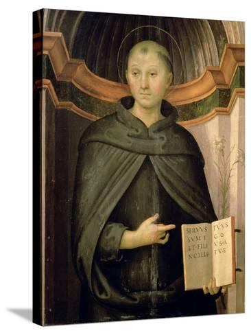St. Nicholas of Tolentino-Pietro Perugino-Stretched Canvas Print