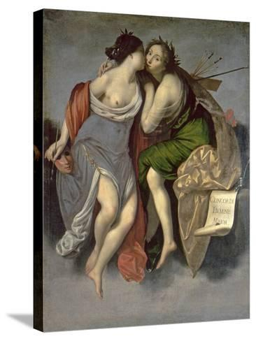 Allegory of the Arts-Francesco Furini-Stretched Canvas Print