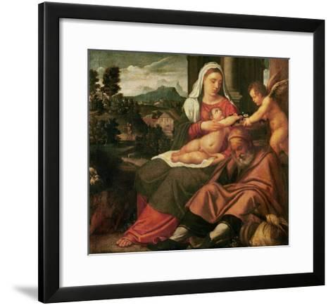 Rest on the Flight Into Egypt-Bonifacio Veronese-Framed Art Print
