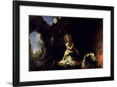 St. Dominic Penitent-Carlo Dolci-Framed Art Print