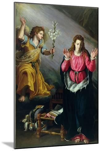 The Annunciation, 1603-Alessandro Allori-Mounted Giclee Print