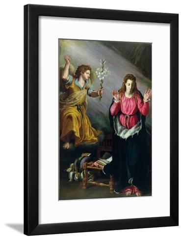The Annunciation, 1603-Alessandro Allori-Framed Art Print