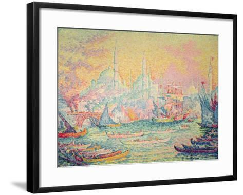 Istanbul, 1907-Paul Signac-Framed Art Print