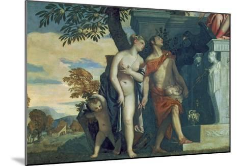Venus and Mercury Presenting Her Son Anteros to Jupiter-Paolo Veronese-Mounted Giclee Print