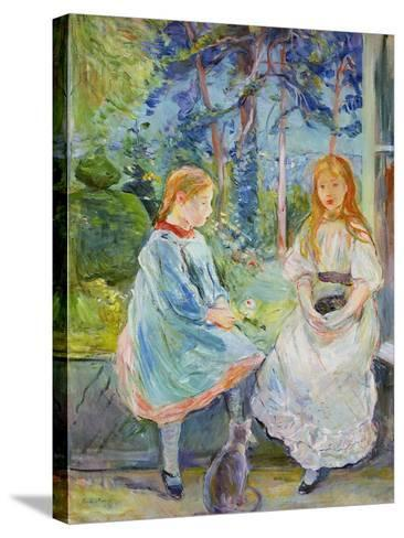 Young Girls at the Window, 1892-Berthe Morisot-Stretched Canvas Print