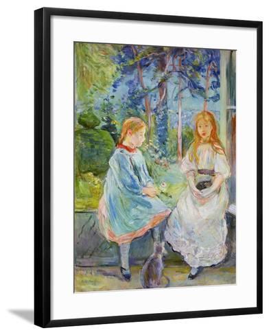 Young Girls at the Window, 1892-Berthe Morisot-Framed Art Print