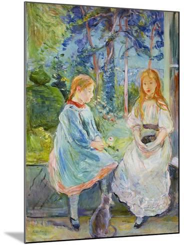 Young Girls at the Window, 1892-Berthe Morisot-Mounted Giclee Print