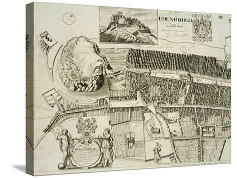 Plan of Edinburgh, Pub. by John Smith-Andrew Johnston-Stretched Canvas Print