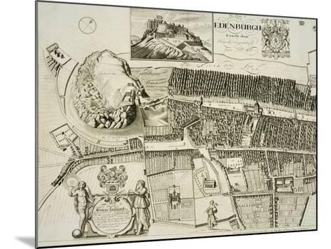 Plan of Edinburgh, Pub. by John Smith-Andrew Johnston-Mounted Giclee Print