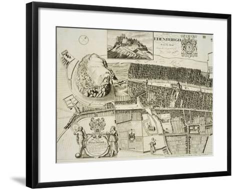 Plan of Edinburgh, Pub. by John Smith-Andrew Johnston-Framed Art Print