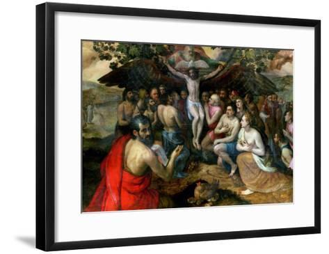 Allegory of the Trinity-Frans Floris-Framed Art Print