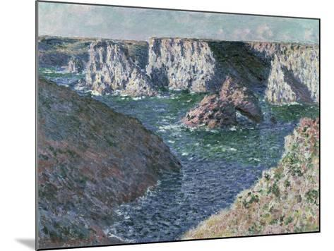 The Rocks of Belle Ile, 1886-Claude Monet-Mounted Giclee Print