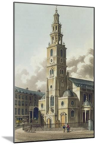 St. Clement Danes Church, Pub. by Rudolph Ackermann--Mounted Giclee Print