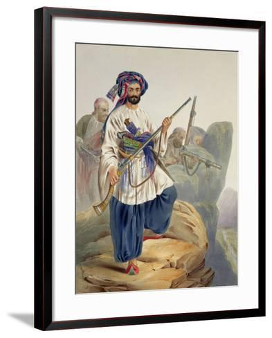 Ko-I-Staun Foot Soldiery in Summer Costume, Scenery, Inhabitants and Costumes of Afghanistan-James Rattray-Framed Art Print