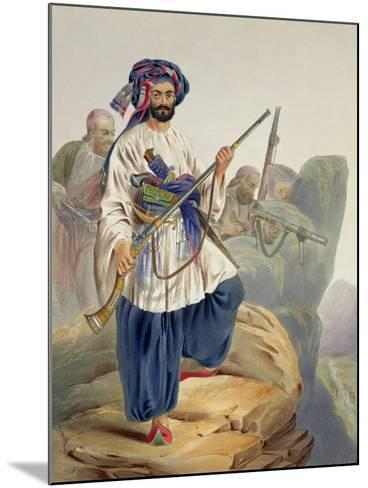 Ko-I-Staun Foot Soldiery in Summer Costume, Scenery, Inhabitants and Costumes of Afghanistan-James Rattray-Mounted Giclee Print