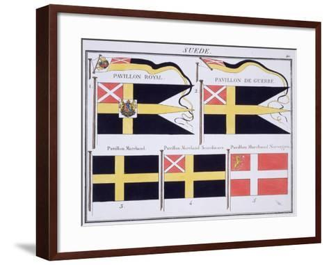 Scandinavian Flags, from a French Book of Flags, c.1819--Framed Art Print