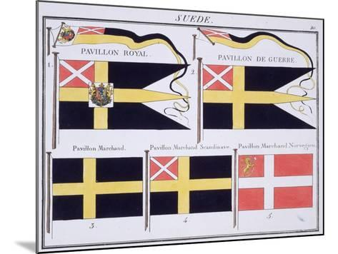 Scandinavian Flags, from a French Book of Flags, c.1819--Mounted Giclee Print