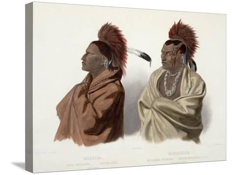 Massika and Wakusasse, Plate 3, Travels in the Interior of North America, c.1844-Karl Bodmer-Stretched Canvas Print