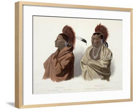 Massika and Wakusasse, Plate 3, Travels in the Interior of North America, c.1844-Karl Bodmer-Framed Art Print