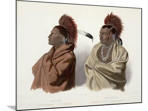 Massika and Wakusasse, Plate 3, Travels in the Interior of North America, c.1844-Karl Bodmer-Mounted Giclee Print