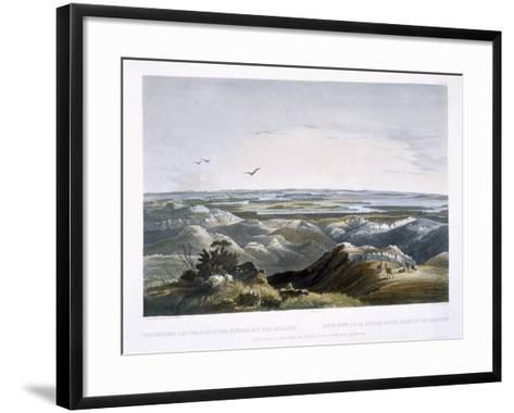 Junction of Yellow Stone River with the Missouri, Travels in the Interior of North America-Karl Bodmer-Framed Art Print