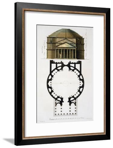 Ground and Facade: Pantheon, Rome, Le Costume Ancien et Moderne, c.1820-30- Fumagalli-Framed Art Print