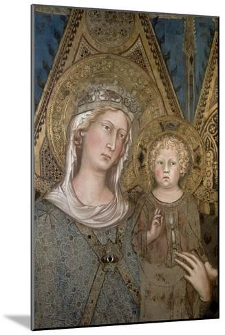 Maesta, Detail of the Madonna and Child, 1315-Simone Martini-Mounted Giclee Print