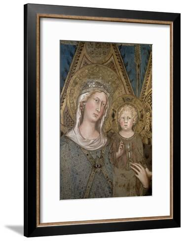 Maesta, Detail of the Madonna and Child, 1315-Simone Martini-Framed Art Print