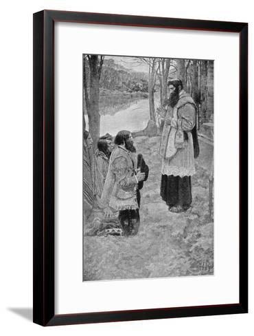 Father Hennepin Celebrating Mass, La Salle and the Discovery of the Great West Parkman-Howard Pyle-Framed Art Print