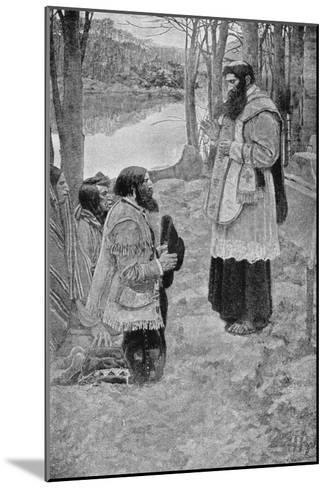 Father Hennepin Celebrating Mass, La Salle and the Discovery of the Great West Parkman-Howard Pyle-Mounted Giclee Print