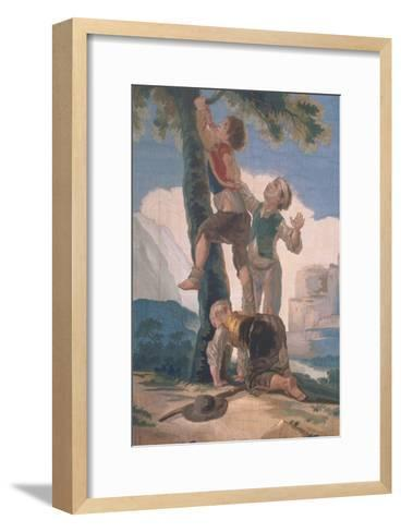 Boys Climbing a Tree-Suzanne Valadon-Framed Art Print