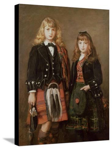 Two Bairns-John Everett Millais-Stretched Canvas Print
