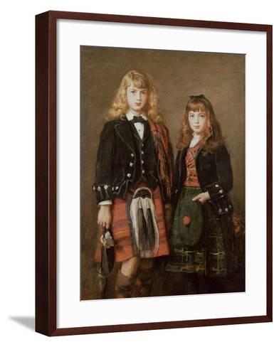 Two Bairns-John Everett Millais-Framed Art Print