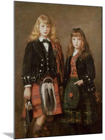 Two Bairns-John Everett Millais-Mounted Giclee Print