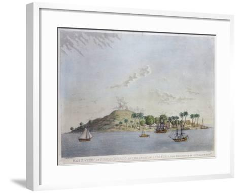 East View of Poolo Chinco, Coast of Sumatra, the Residence of W. Grant Esq., Engraved Moffat, 1802-William Grant-Framed Art Print