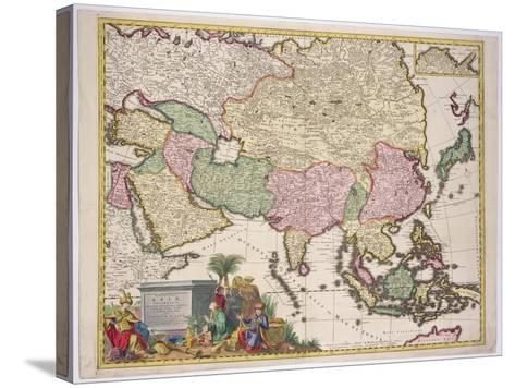 Map of Asia, Tartaria, Japan, the Philippines and East Indies, Engraved G. Van Gouwen, c.1690-Karel Allard-Stretched Canvas Print